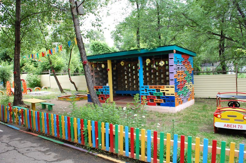 Участок детского сада летом своими руками фото